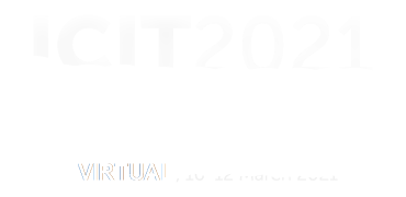 ICIT 2021. Valencia, 10 – 12 March. Spain. 22nd International Conference on Industrial Technology